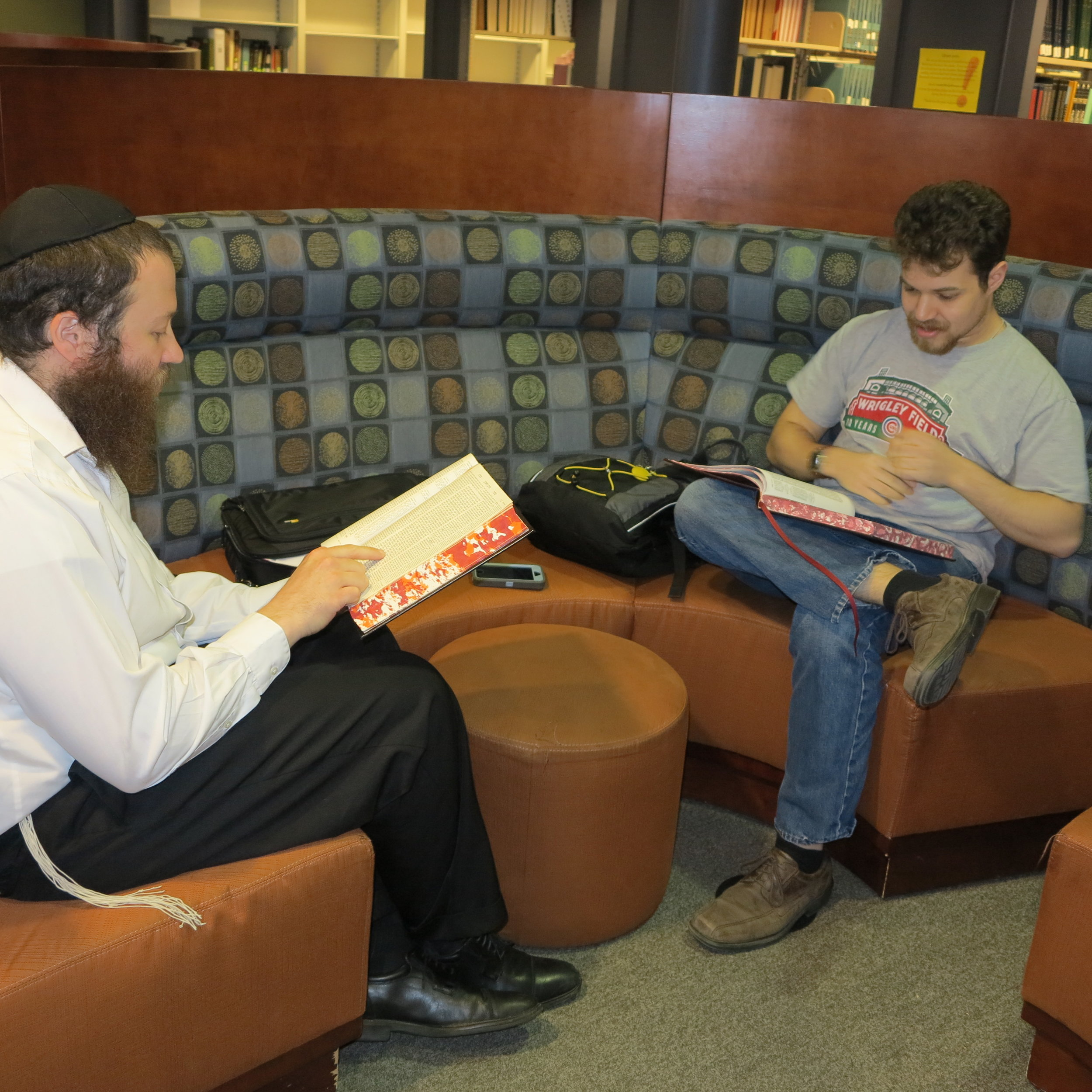 A glismpe into one of the many personalized study sessions, we are studying about  Sukkot  in the  Talmud
