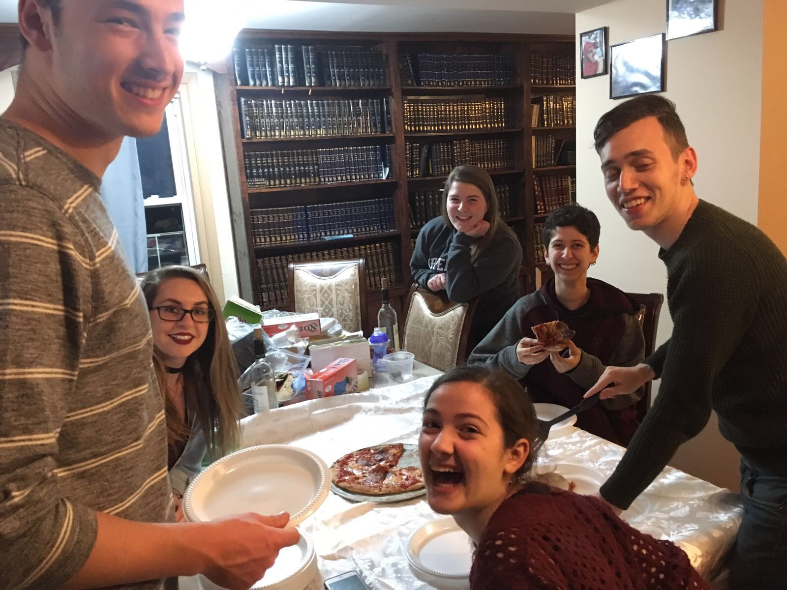 Post Passover Pizza Party: Eight days without  Chametz  and they go crazy for PIZZA!