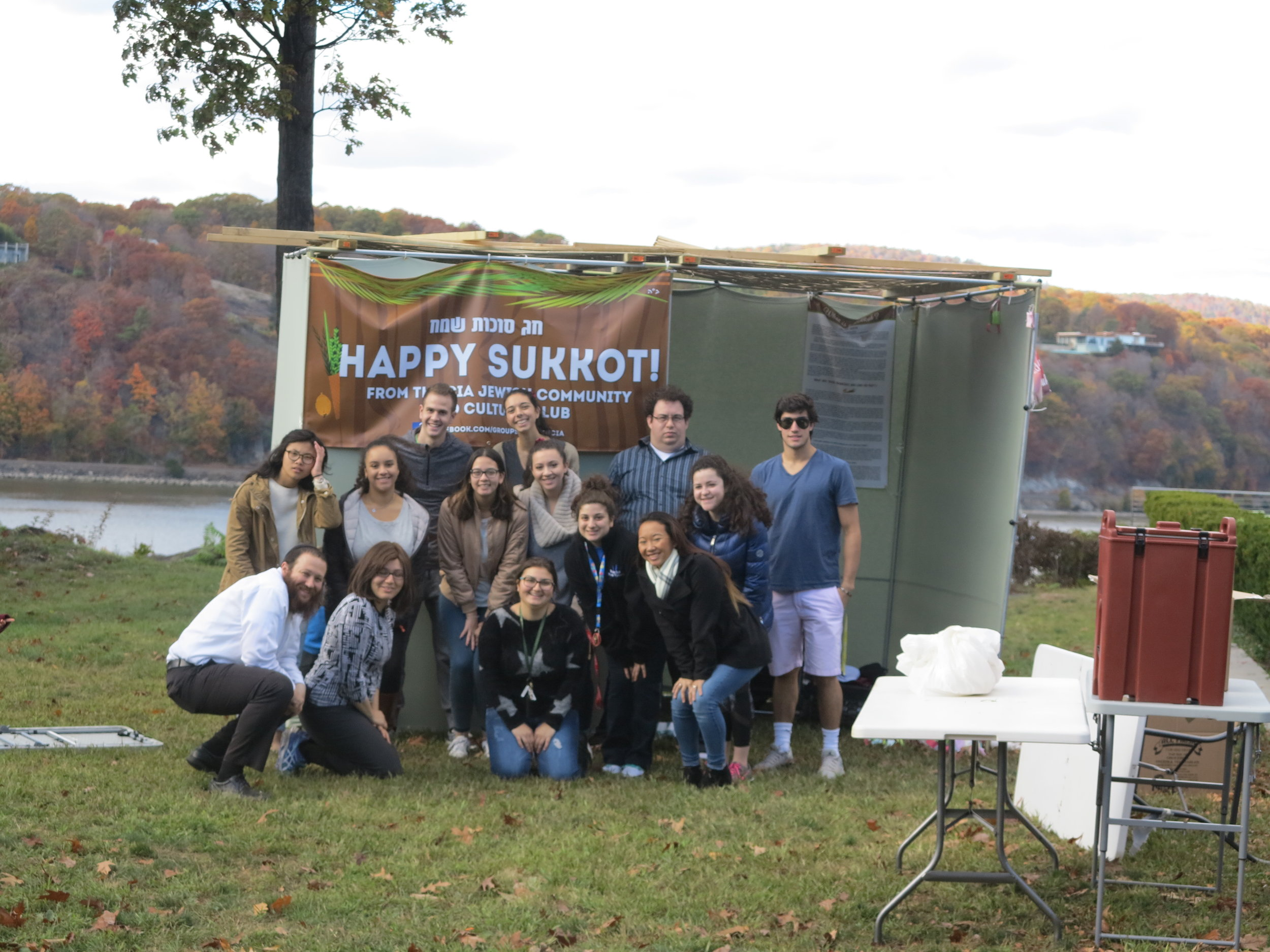 Any better place to celebrate Sukkah then on the Hudson River?