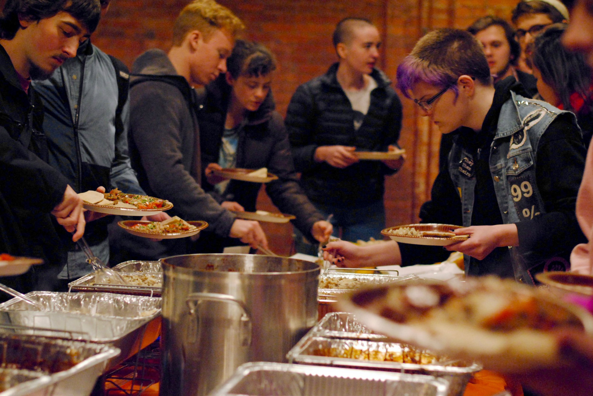 "Students exploring and devouring Syrian Jewish food and culture at ""Taste of Judaism: Syria"""