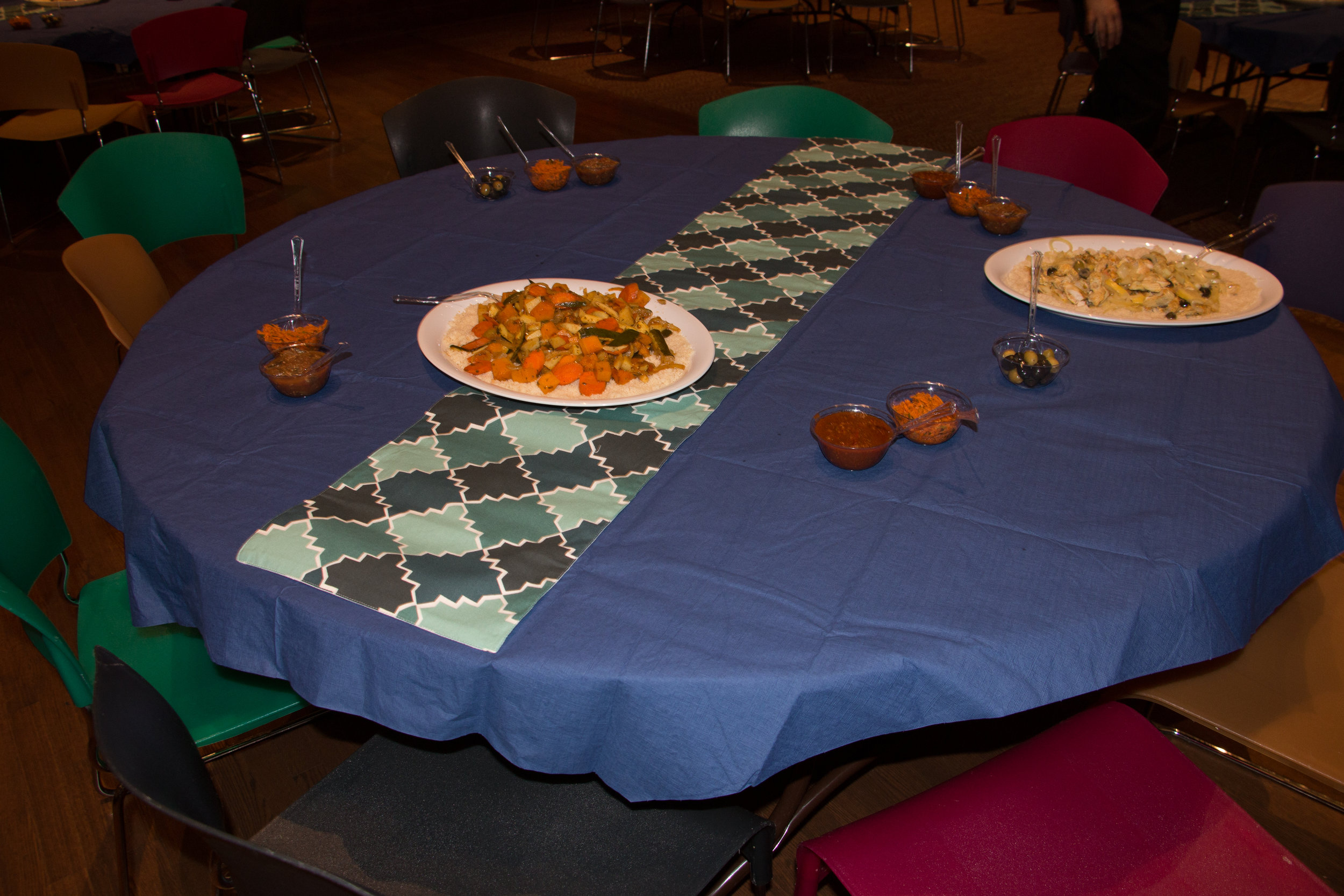 "Table set for ""Taste of Judaism: Morocco"""