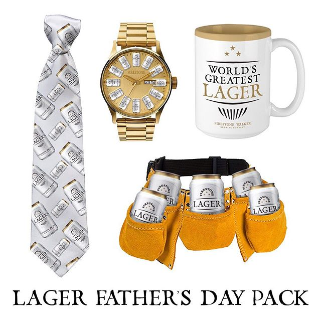 It's almost Father's Day. Looking for a gift idea? Firestone Lager has you covered.
