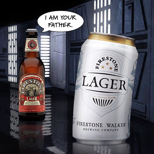 """Come to the Dad Side, we have bad jokes"" - Happy Father's Day from #firestonelager!"