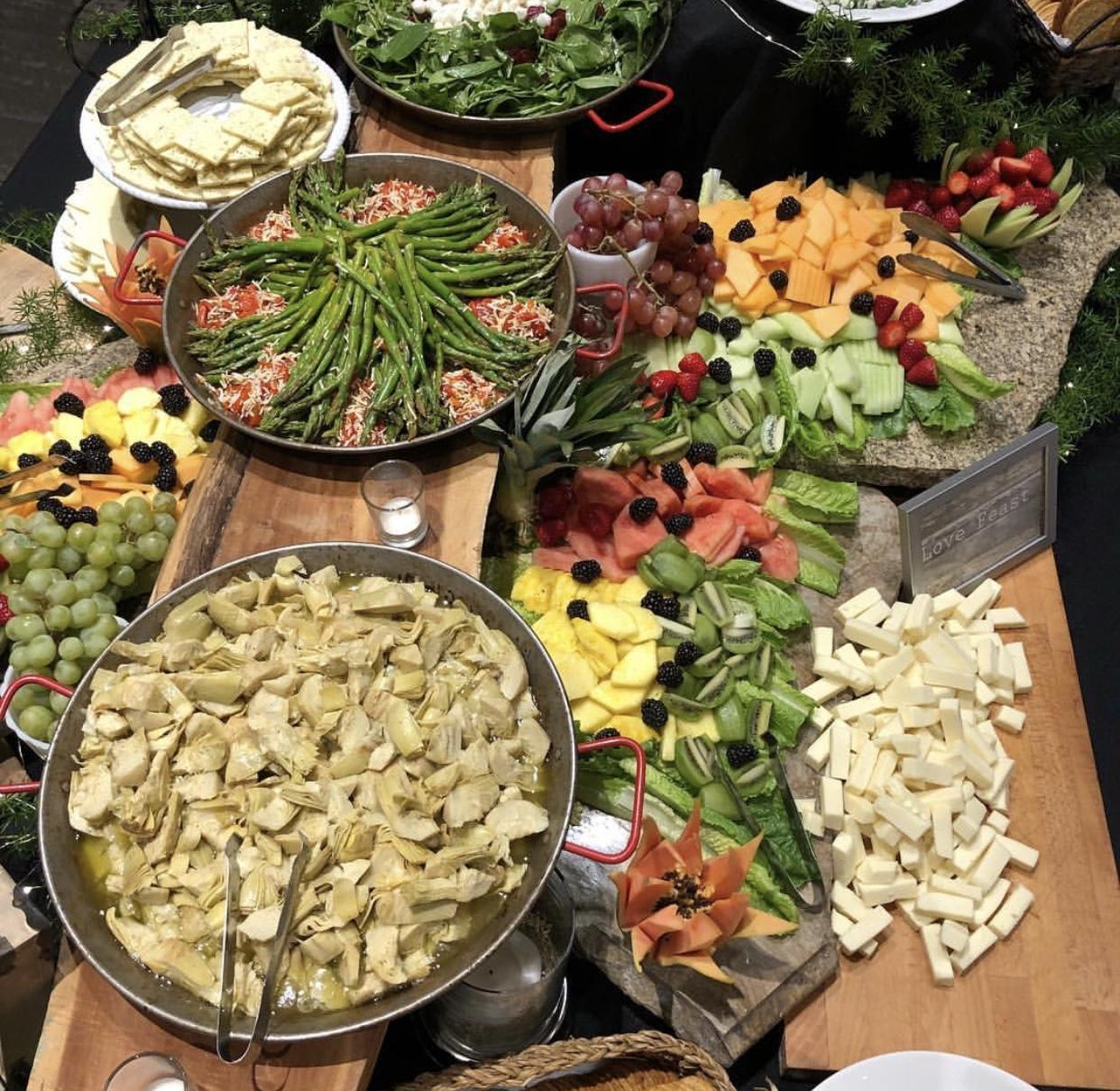 Antipasta & Fruit Display