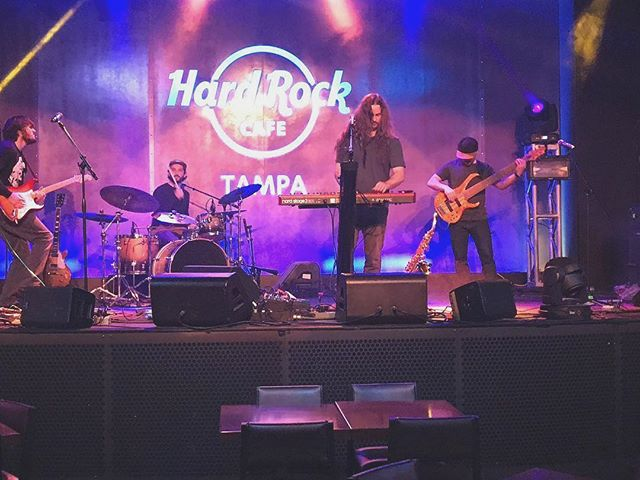 Shot from last night at @hardrocktampa. Join us TONIGHT at @dunedinbrewery 9p. Bout to blow the roof of this bih 📸: @james_cati . . #displace #dunedin #dunedinbrewery #funk #dirt #stank #extramustard #sardines #kimchi #bleucheese
