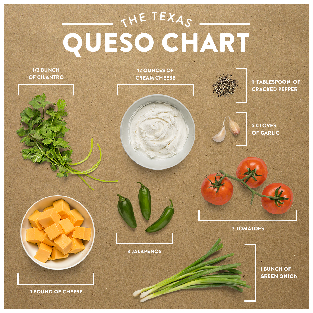 """""""This game day, make your taste buds happy with some liquid gold (aka queso)."""""""