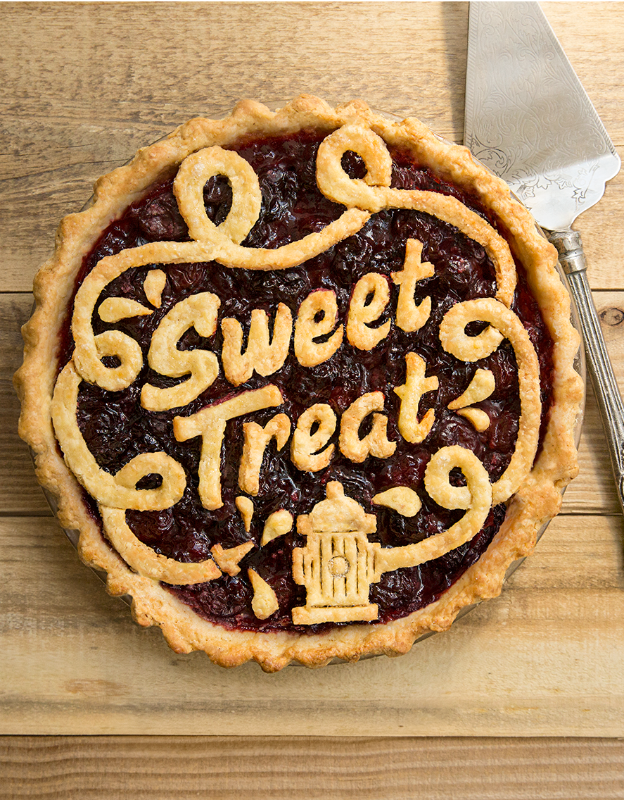 'Sweet Treat' pie, shot retouched for a printed card deck.