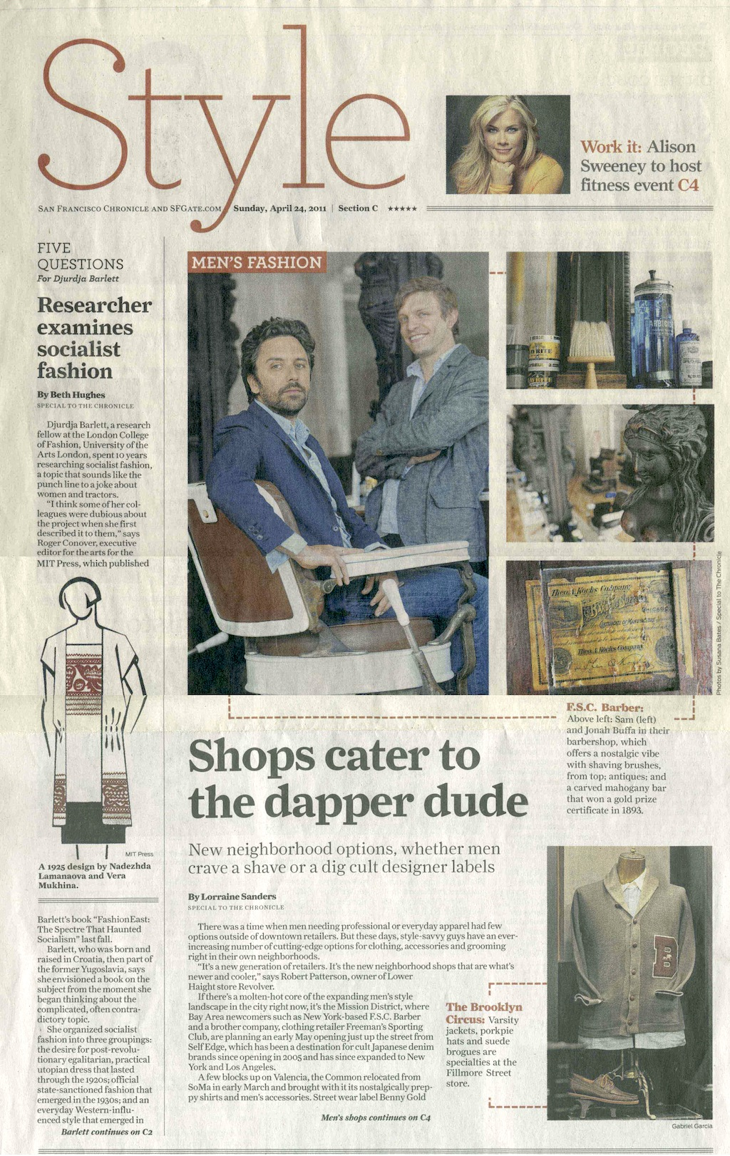 San Francisco Chronicle - 2011Featured: Fellow BarberView PDF