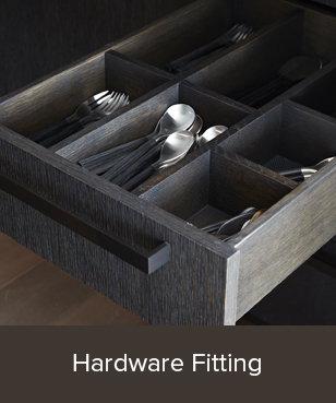 We mortise and attach a wide range of hardware on cabinets, doors and other millwork. We manufacture jigs and templates to repeat detailed mortise-work, and we utilize our CNC router to execute more demanding patterns or processes.