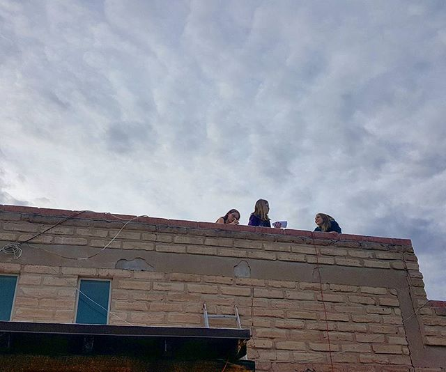 Science project on the roof.