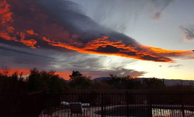 Wow. Tucson sunrise this morning!
