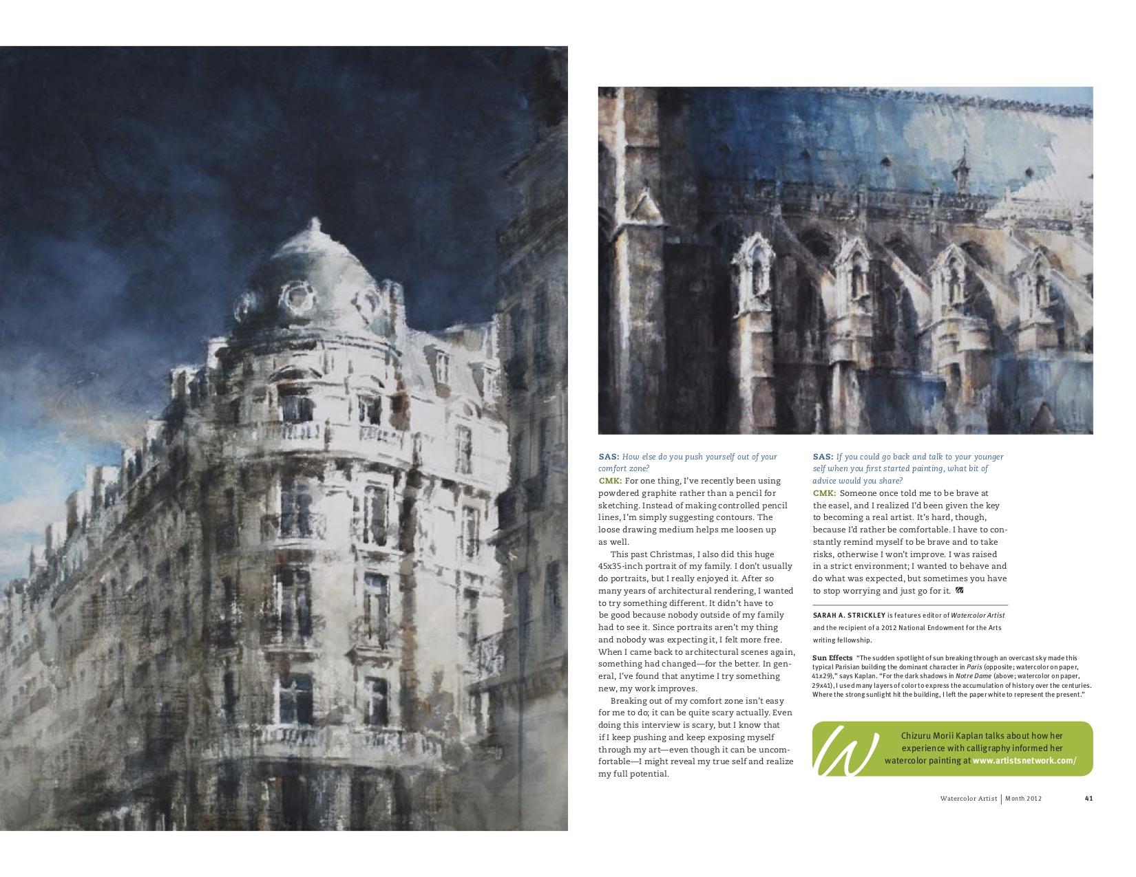 Watercolor Artist Magazine, 2012