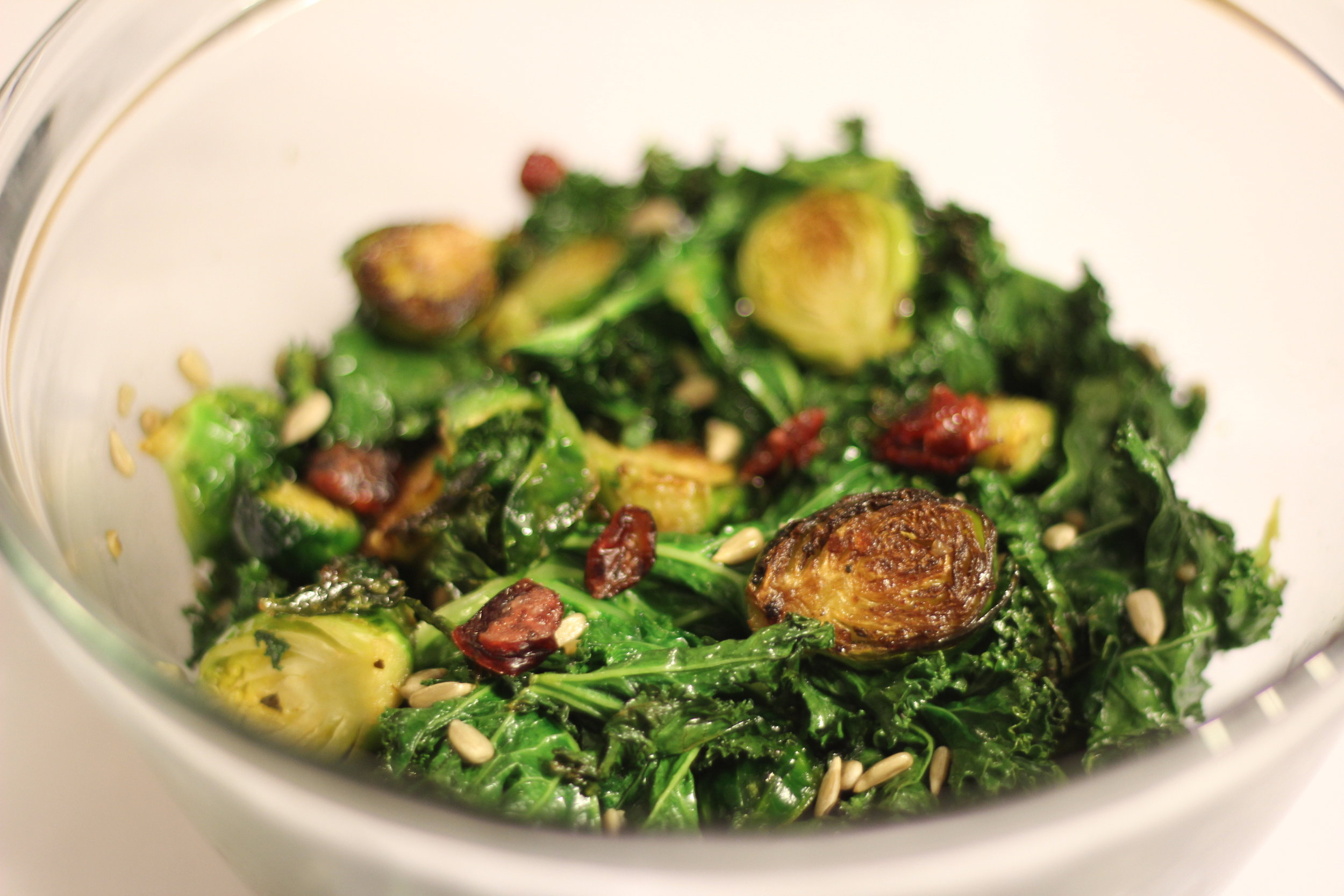 Brussel and Cranberry Salad -