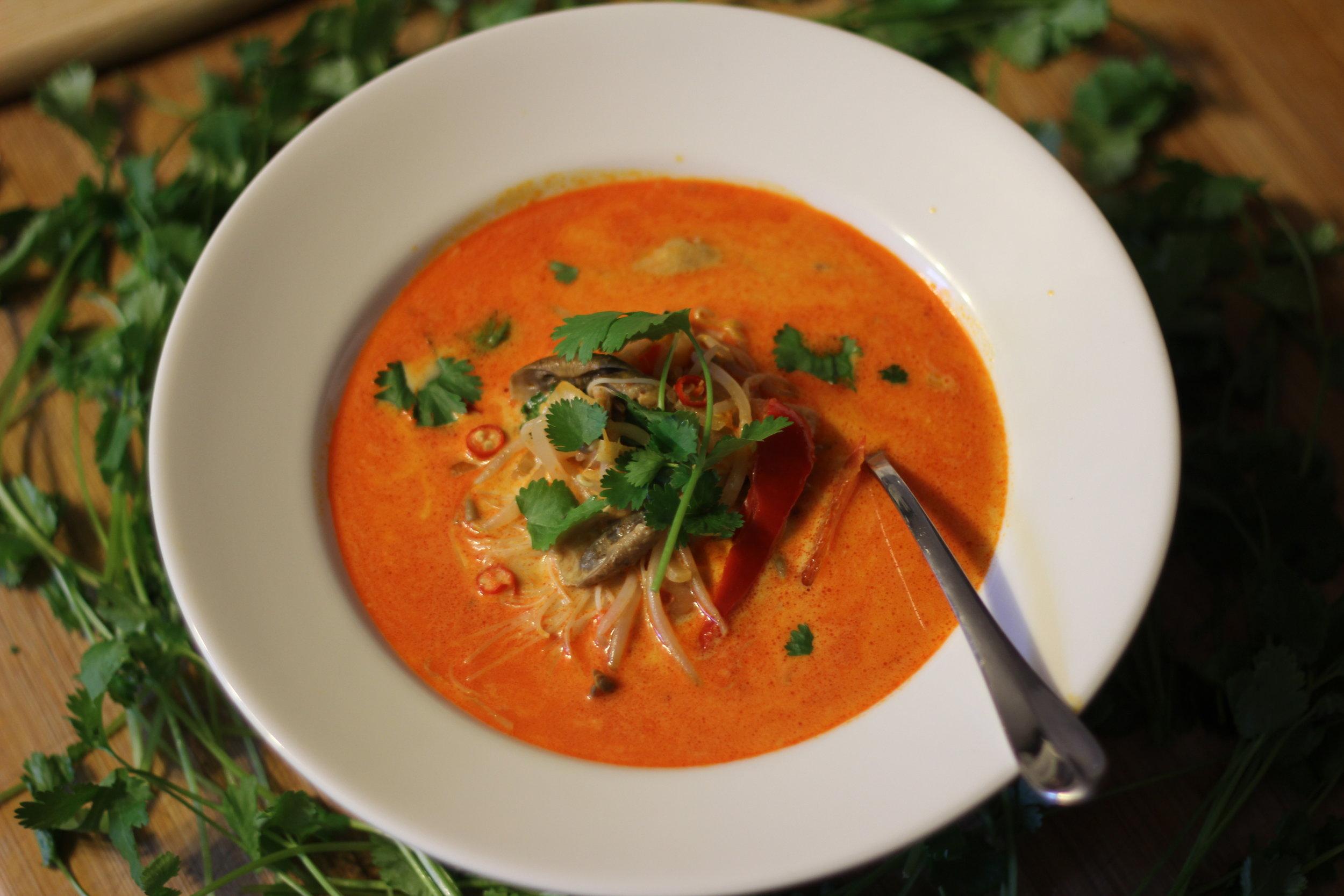 Laksa Noodle Soup -