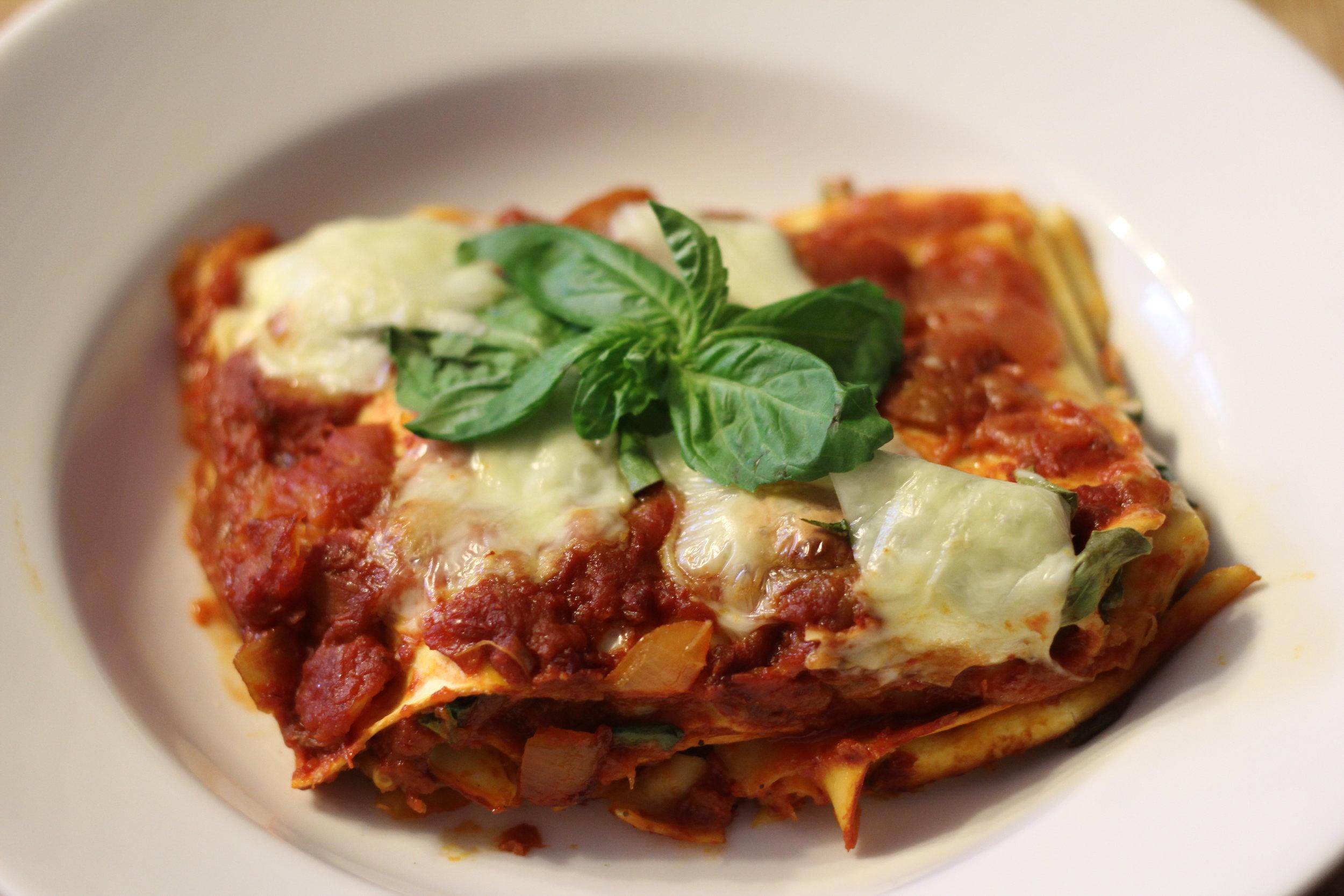 Spicy Eggplant Lasagne -