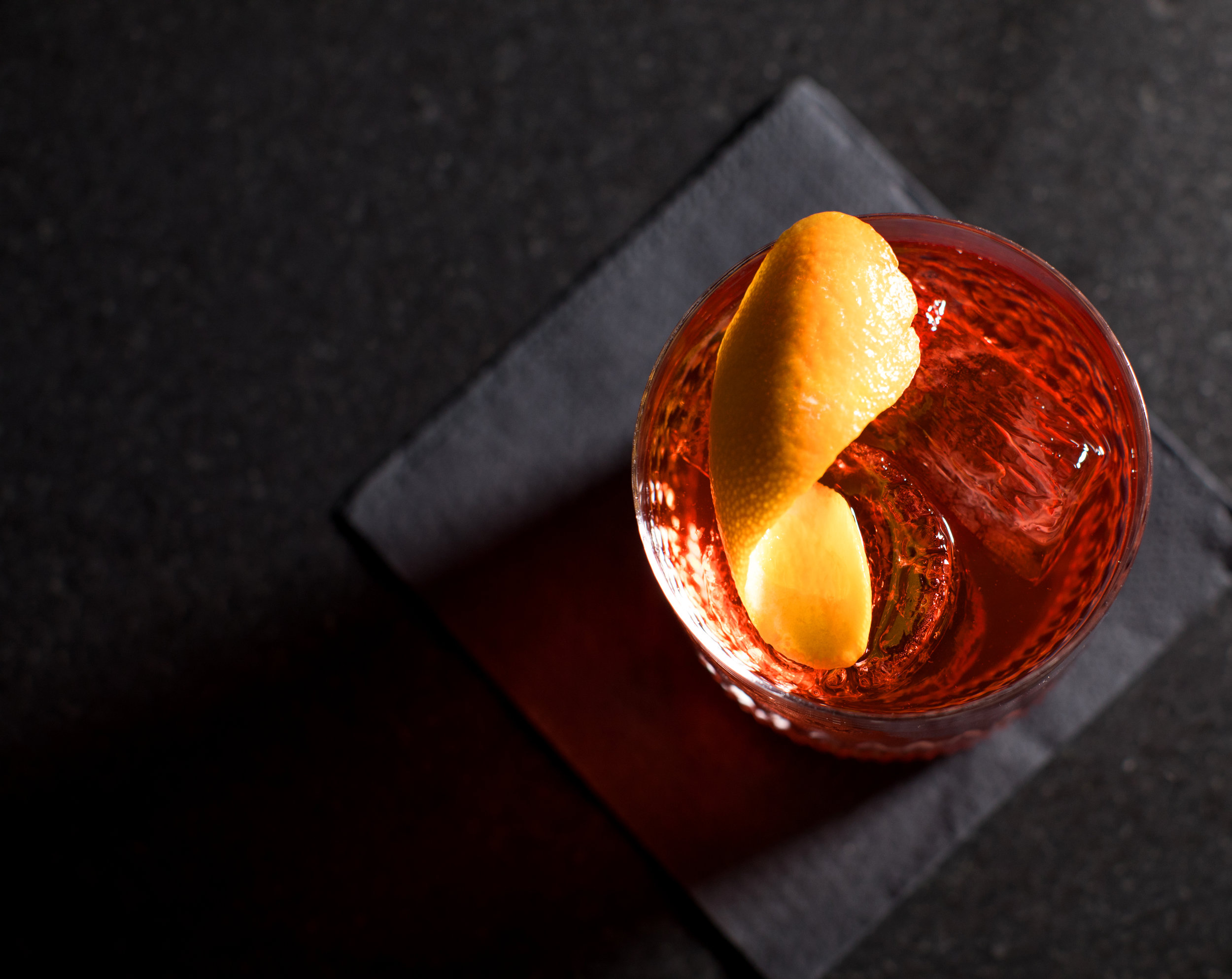 Enticing old fashioned at Bubo NYC.