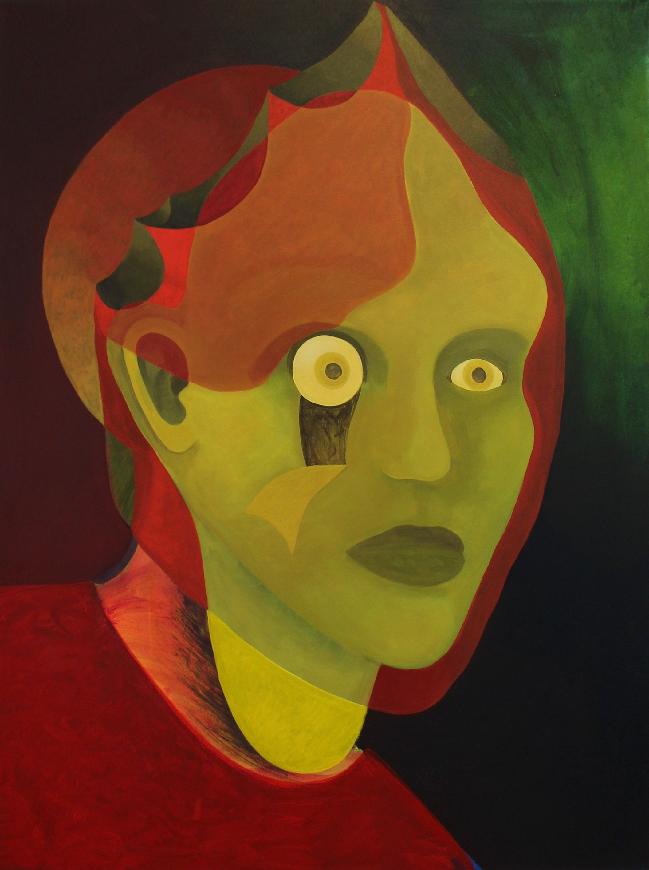 Kristen Sanders  Head/Stone , 2018 Acrylic on canvas 30 x 40 inches