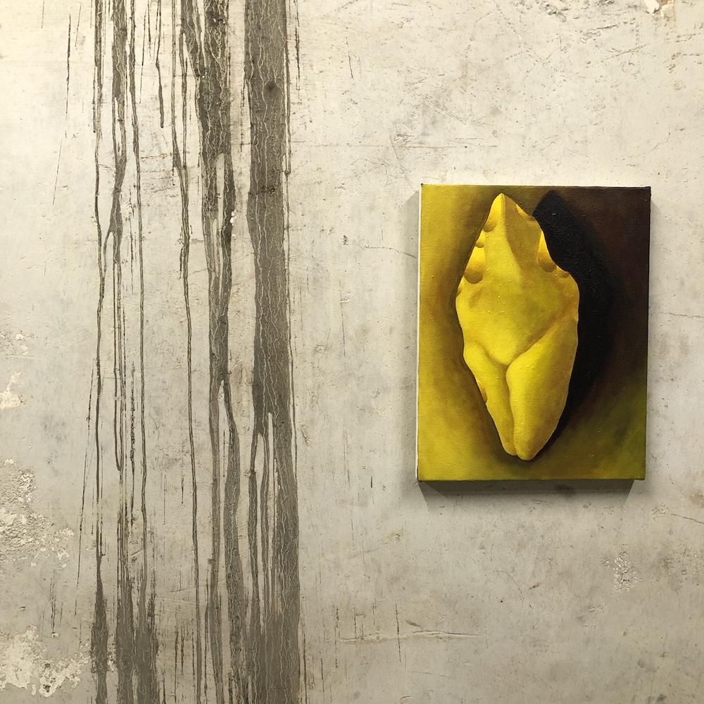 Kristen Sanders  Figure Ax , 2018 Acrylic on canvas 11 x 14 inches