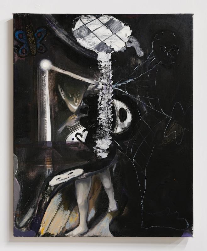 Stefan Hoza  Webbed , 2018 Oil on canvas 24 x 30 inches