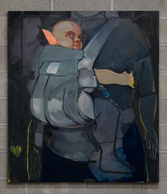 Stefan Hoza  Untitled (Carrier) , 2019 Oil on canvas 46 x 52 inches