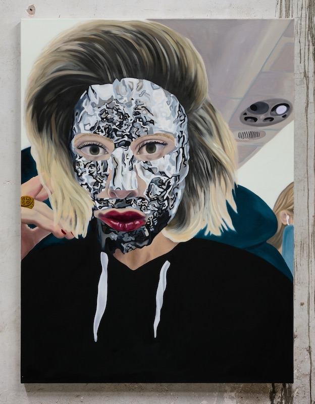 Adriane Connerton  Sophie Masking , 2018 Oil on canvas 48 x 36 inches