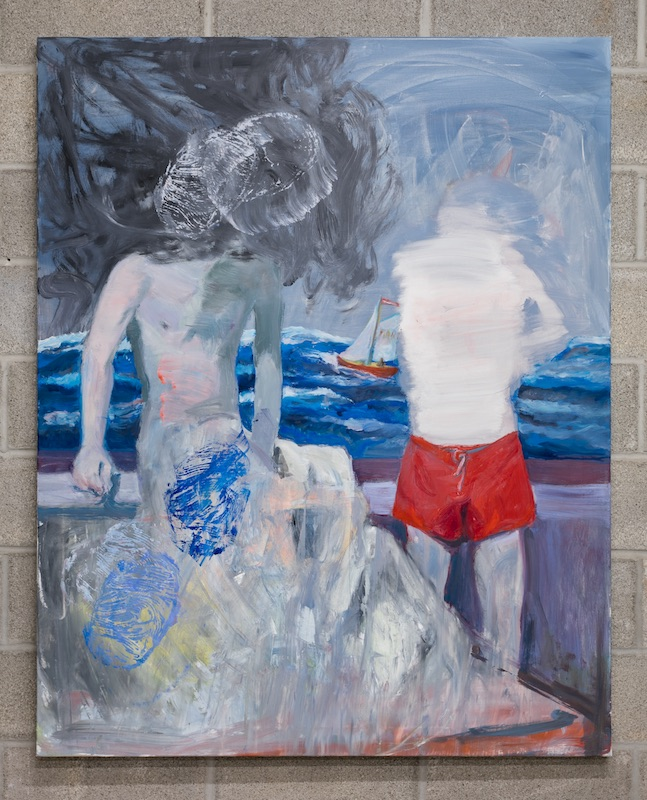 Graham Durward  The Far Side (of the ocean) , 2019 Oil on canvas 60 x 48 inches