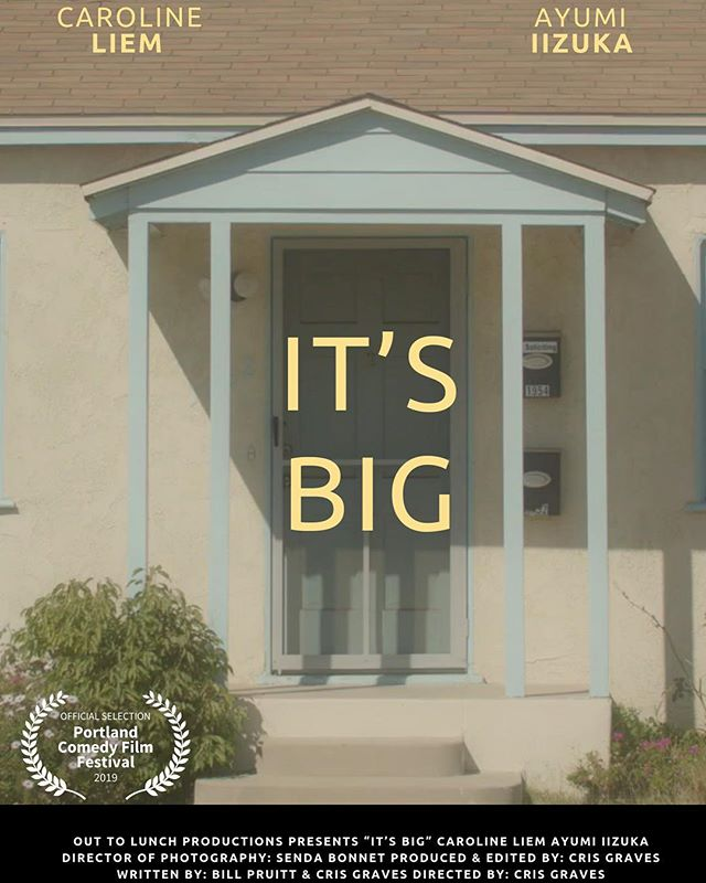 """Happy Saturday Everyone!! Just found out my newest short film """"It's Big"""" just got into its first film festival!! It will be screening at the @portland_comedy_film_festival, the weekend of May 17th! Super excited to start sharing this little film with its big comedic punch! And I want to give a giant shoutout to my talented friends who all showed up and helped me make this film!! Thank you all: @accesscarolineliem @ayumi.iizuka @senda.bo @lokofilmz @billpruitt @jacks.pruitt @metroraymond you all rock!!! Couldn't have done it without you! Yes, I like exclamation points... a lot!!!!"""