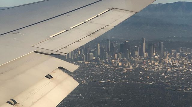 Home. #losangelesskyline #losangeles #delta #wings #flight #home #homesweethome