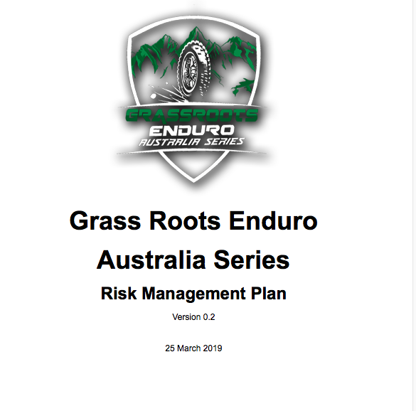 Risk Management Plans   Ever ran an event? Had to deal with Council, CFA, Roads Authority, National Parks, Emergency Services - the list goes on. It's getting tougher and tougher and then you need to prepare risk management plans for each department. We coordinate the entire process for you to ensure you focus on the important 'stuff'.