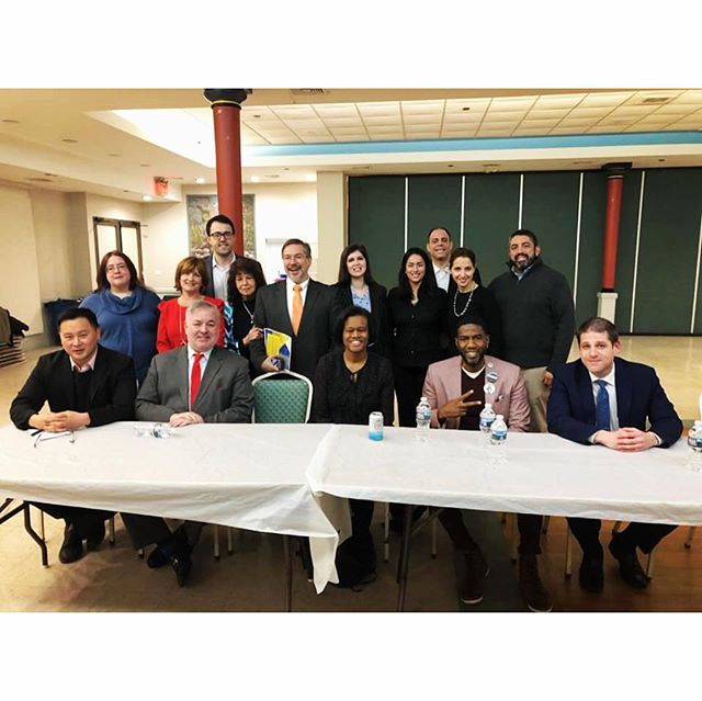 Throwback Thursday to our Public Advocate Forum last month. Thank you Taminent Regular Democratic Club and @queenscountyyoungdems for co-hosting with us! Thank you to everyone who attended. Best of luck to all the candidates! The special election is Tuesday, February 26. Make sure to vote! #tbt #throwback #democrats #astoria #queens #newyork #democraticclub #publicadvocate #specialection #publicforum #vote