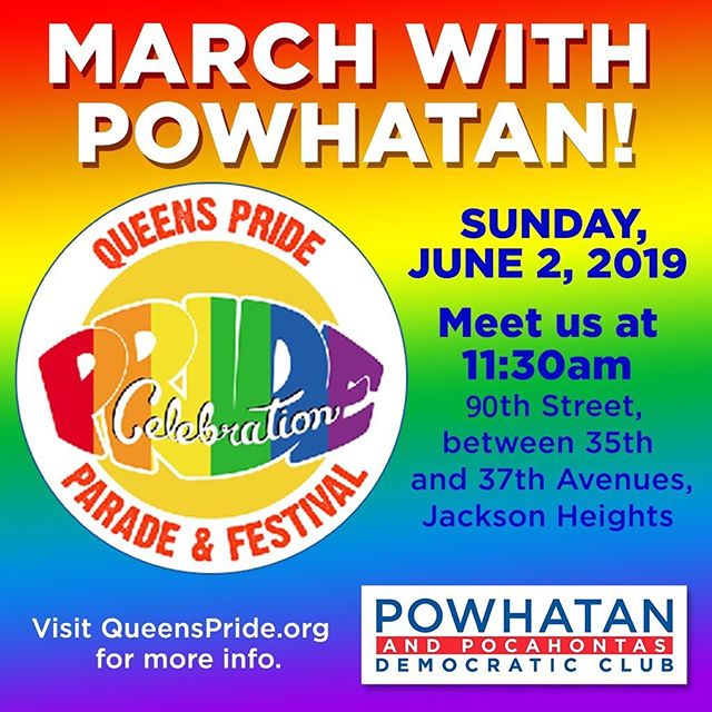 Join us today at #queenspride at our new location, 35-50 90th Street, Jackson Heights at 11:30am!