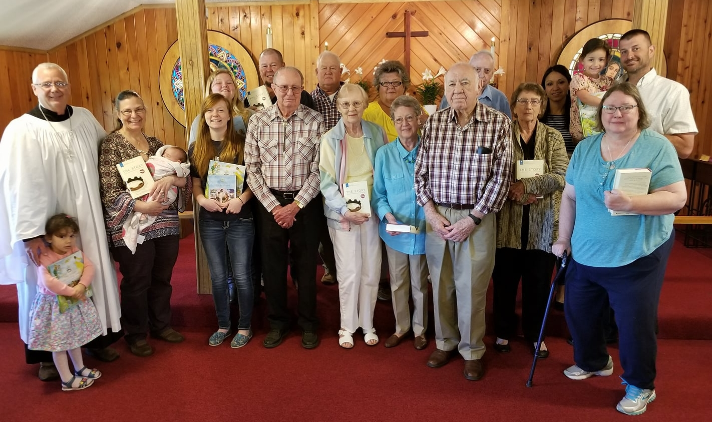 Members of St. Matthias', young and old, are taking Bishop Reed's challenge to read the Bible in one year. We are using the book, The Story, to take us on this journey.