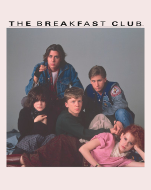 The Breakfast Club characters poses for a picture