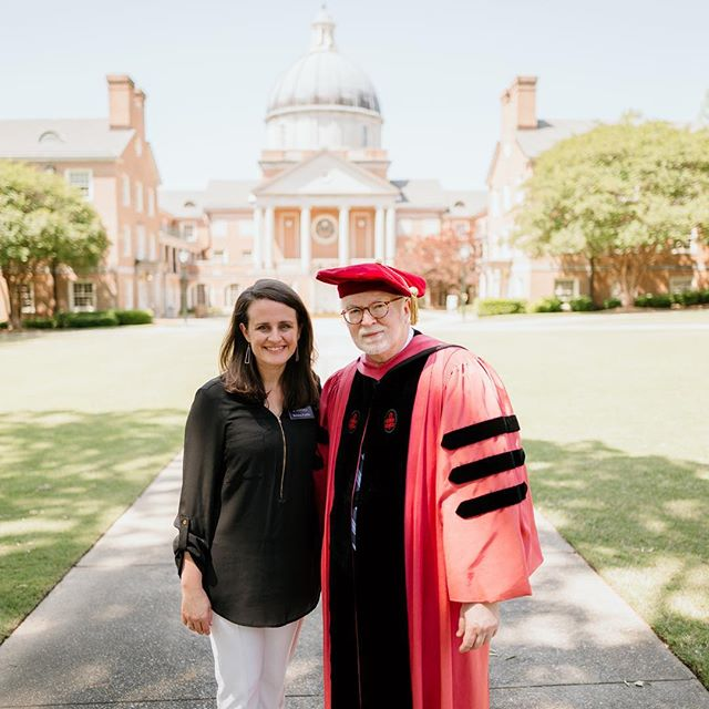 Five years ago today I started a new job @beesondivinity working for Dean Timothy George. I had no idea what a rewarding, joyful experience this would be. I also didn't realize I would be gaining a father in the faith, mentor, and friend. Yesterday was his last commencement as dean and his retirement dinner. I presented to him the final Beeson magazine under his deanship as well as a framed copy of the magazine cover. This issue is a commemorative issue for him. Every magazine and project with him has been incredibly fun and a learning experience (swipe left to see all four issues)! I look forward to working together with him on a future project hopefully to be announced by 2022. 😉 . Congratulations, Dr. George! Thank you for giving me a chance 5 years ago by giving me a job. It's been fun! . #whybeeson Thanks @kyle_a_thompson for the photos!