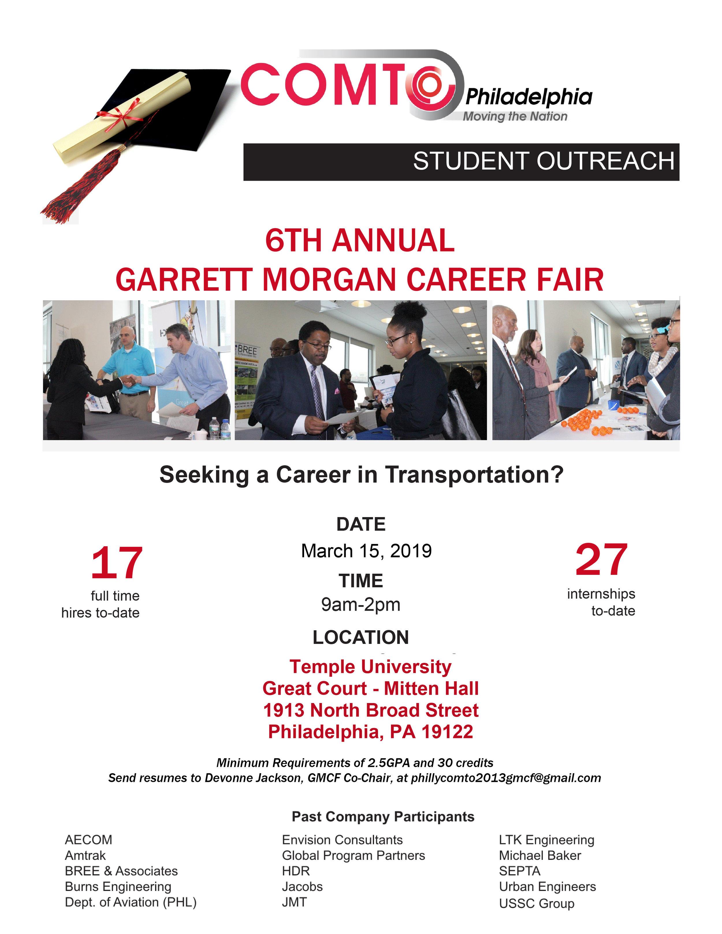 Garret Morgan Career Fair — COMTO Philadelphia Chapter