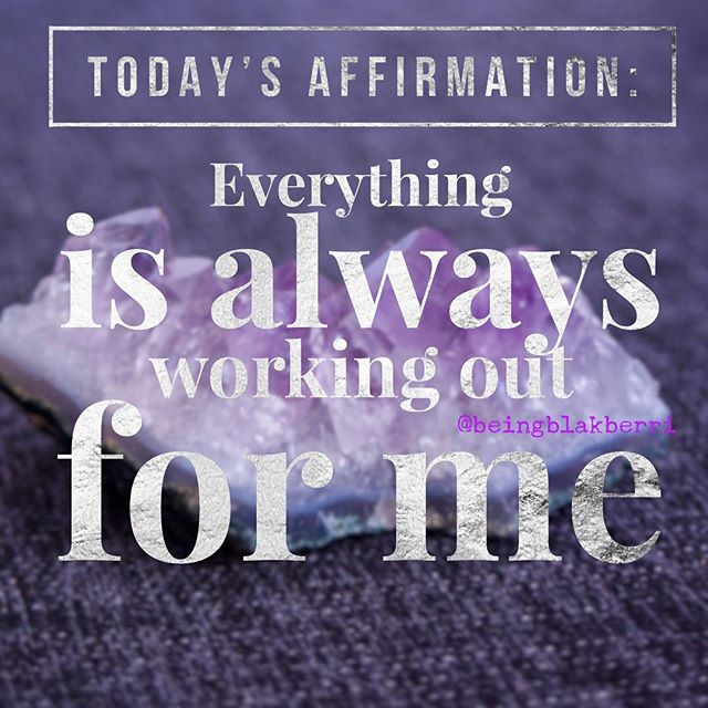 Repeat: Even when it doesn't look like it, everything is always working out for me. I might not be able to see how right now and still, everything is always working out for me. Situations may seem crappy, yet everything is always working out for me. ✨🔮✨ #askbelievereceive #affirmations  #manifestation