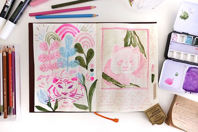 I've revived my love for watercolours these past few days! I haven't picked up a paint brush to actually paint something since January, which is totally ridiculous. My current obsession is painting pandas, which is pretty relevant to how I feel now that I can laze around at home since school's out! Can't wait to experiment with my new gouache paints this week! 🖌📖📝⠀ ⠀ .⠀ .⠀ .⠀ .⠀ .⠀ .⠀ #jobsjournal #mdpaper #mdpapernotebook #watercolor_guide  #journal #stationery #watercolour #art #studygram #journallove #painting #lettering #study #pandas #journaling #pinkaesthetic #pastels #livefolk #collage #washitape #mixedmedia #studyblr #stamps #stationeryaddict #midori  #travelersnotebook  #midoritravelersnotebook  #mtn  #travelerscompany