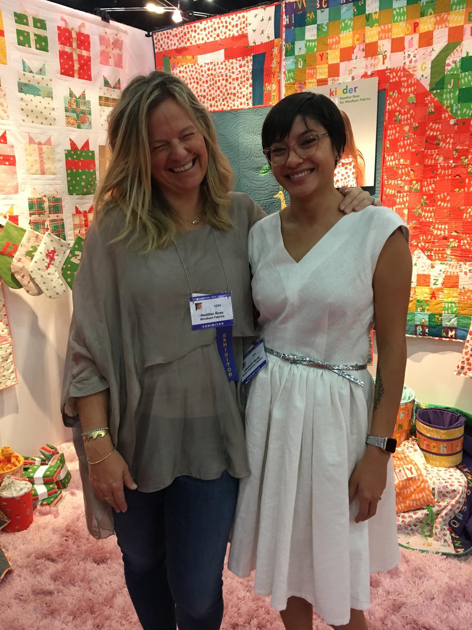 I'm still in a tiny bit of shock that I met my favorite Designer,  Heather Ross , in person.