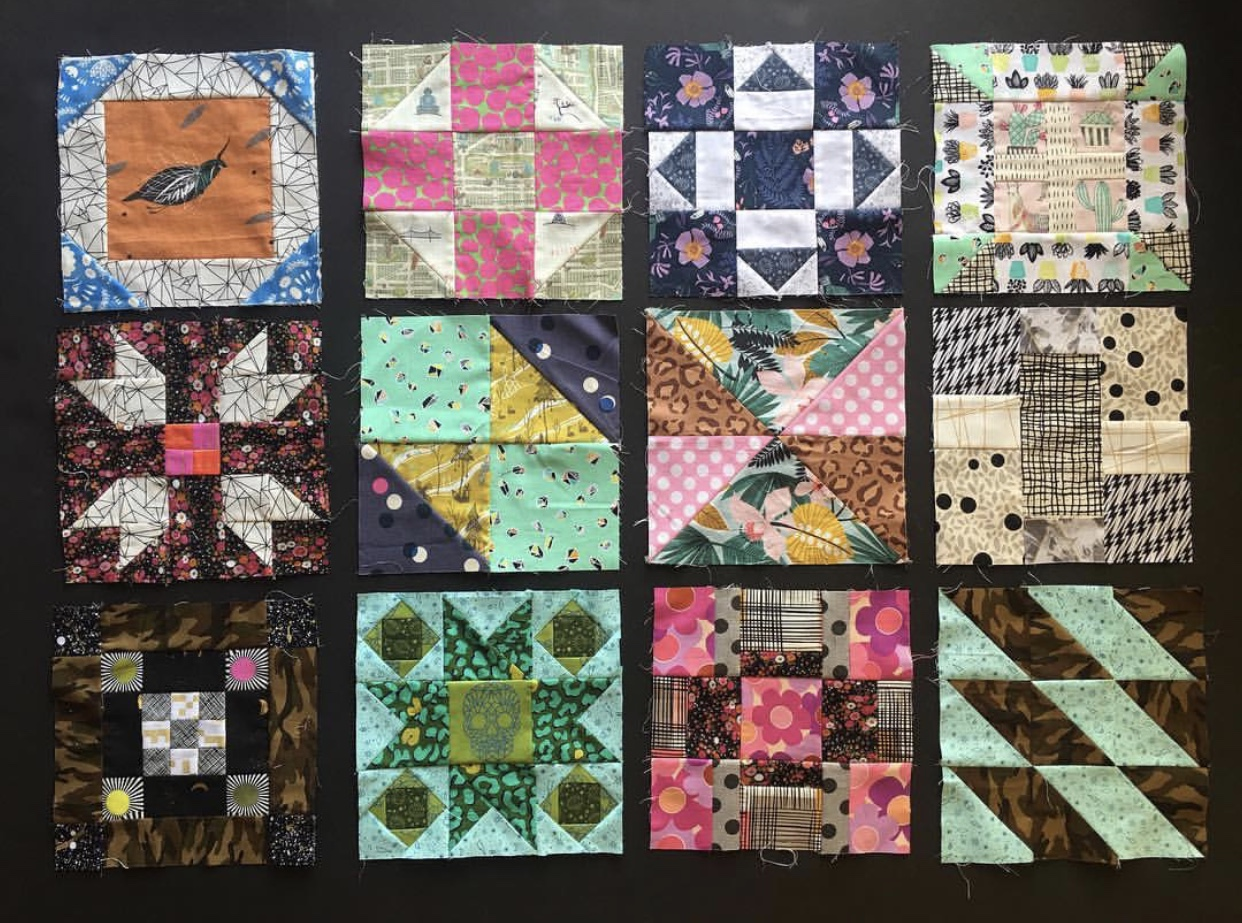 @misscrayolacreepy  is making great progress with her blocks, and I love how when they're grouped together I can see the similar color selections across multiple blocks. I'm really looking forward to seeing this quilt finished!
