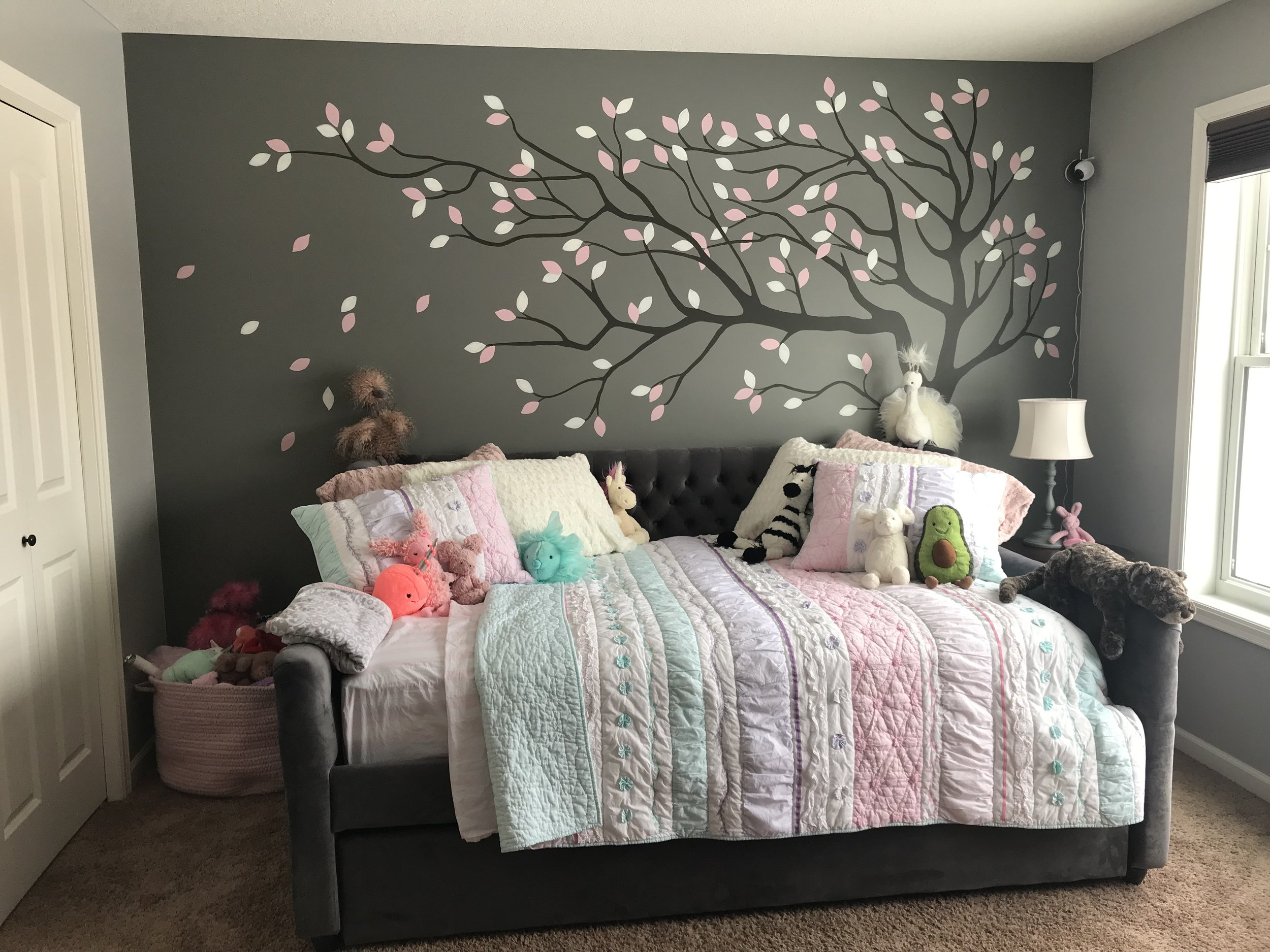 """2019 Transition to a """"Big - Girl Bed"""" Call Sheryl VanderPol (763-542-1116) for your custom design dreams!"""