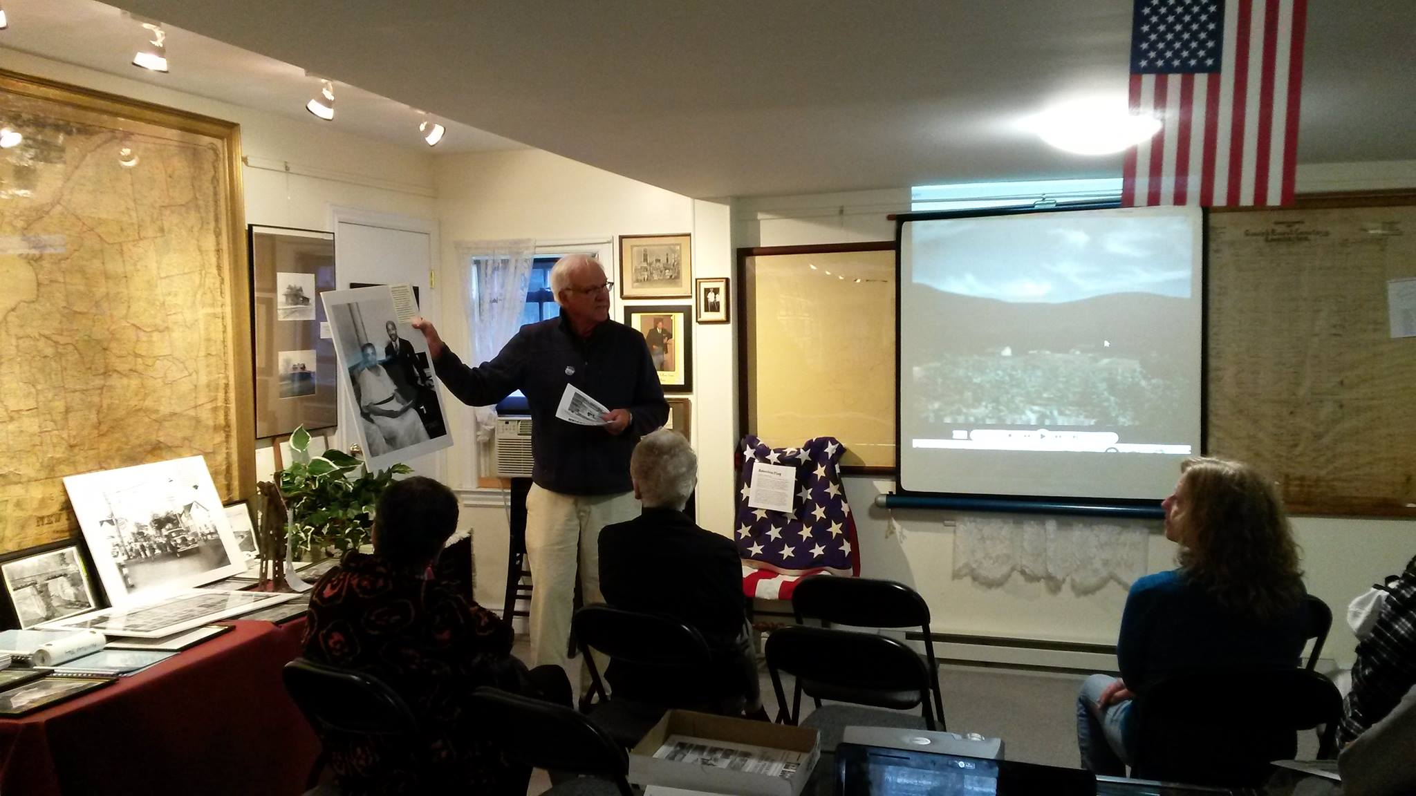 Rik rydant giving a presentation on father divine at heritage day 2017