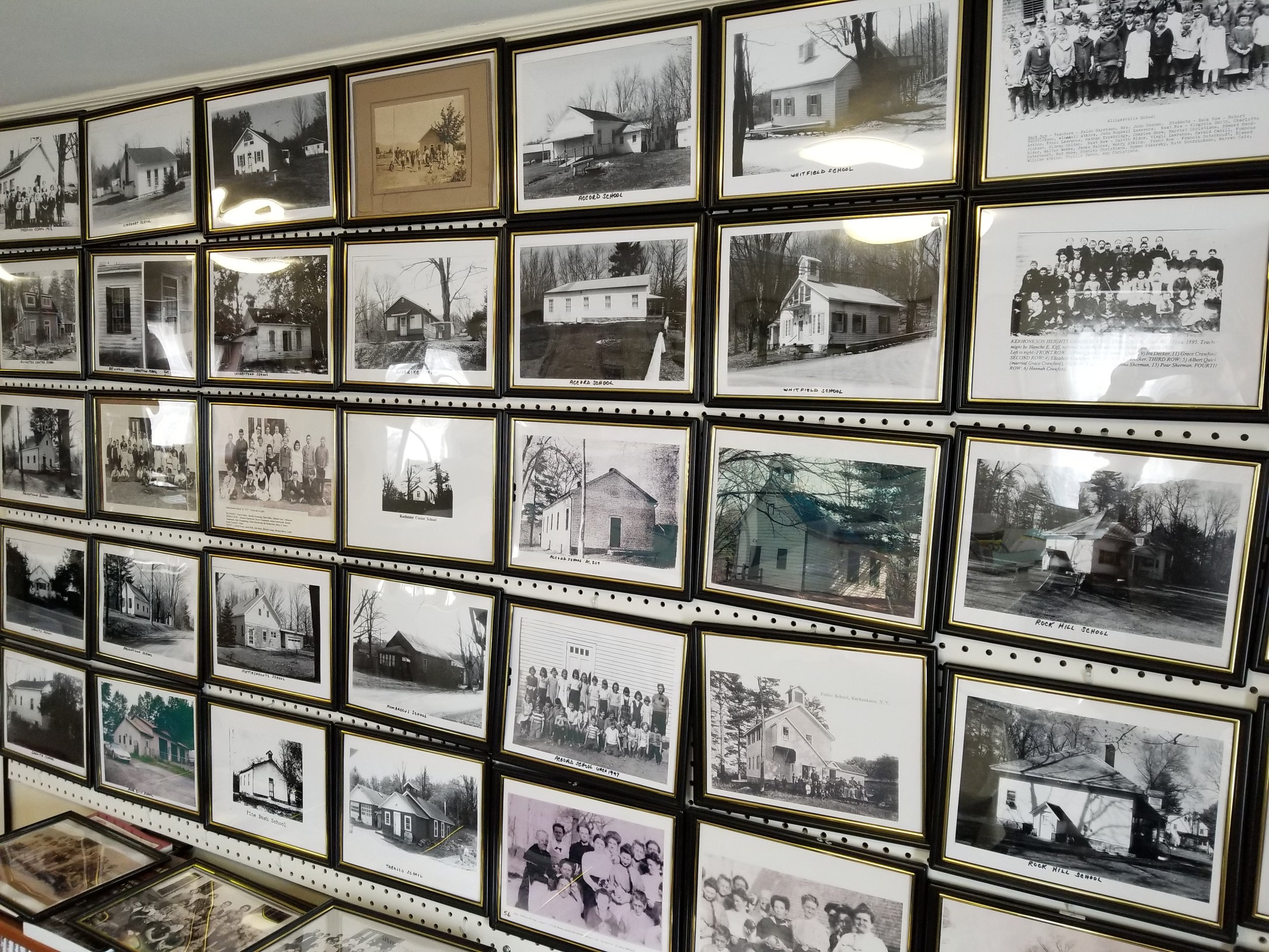 just a few of the collection of historic photos at the FHR museum