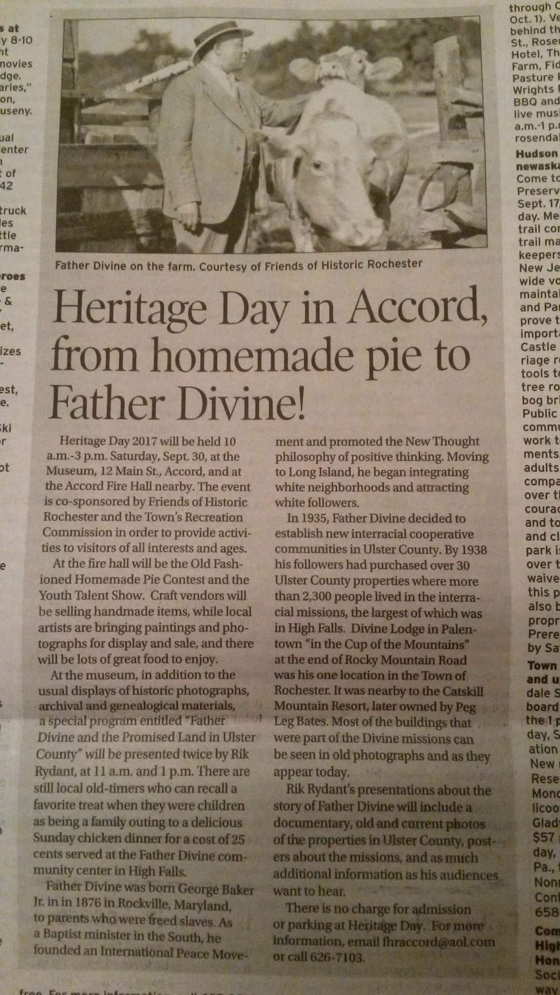 Heritage day in the BLue stone Press, 2017