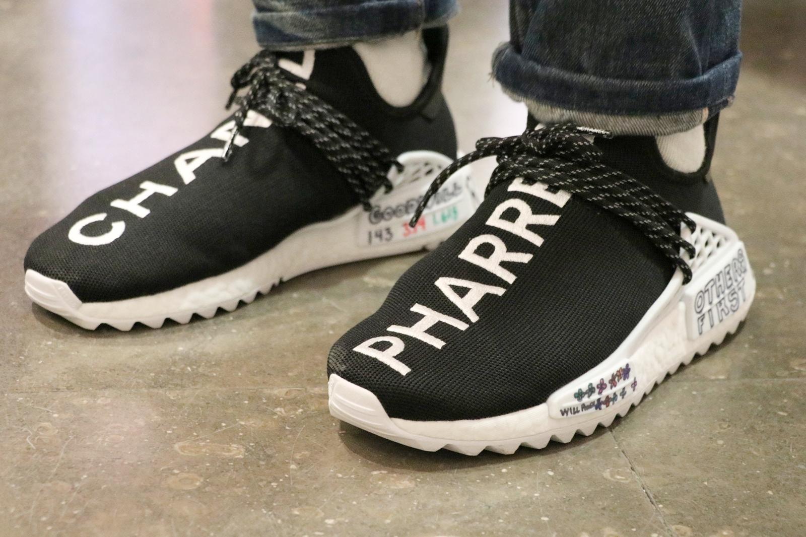 Chanel x adidas Originals Pharrell Williams Hu NMD. Photo credit:  HYPEBEAST France