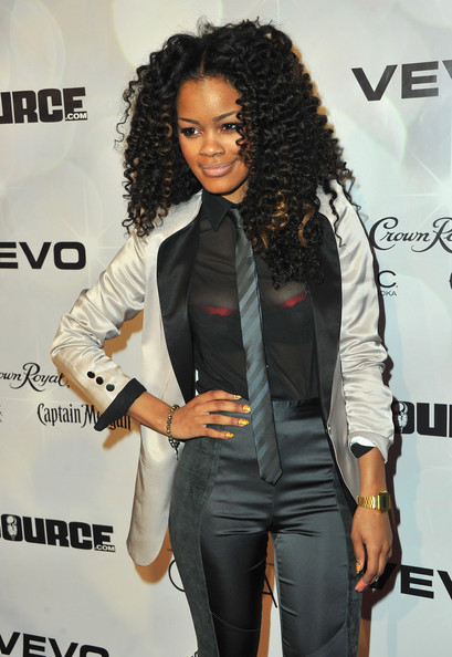 Teyana Taylor shut it down with this ensemble NBA All-Star Weekend 2K11.