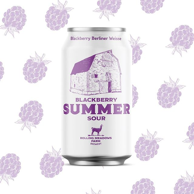 We're ready for summer, are you? Our new Blackberry Summer Sour, releasing June 1st alongside Lincoln Logger, is a perfect way to quench your thirst during a long day of choring on the farm or relaxing on the beach. Crack one open come June. . . . #BeerRelease #Sour #rollingmeadowsbrewery