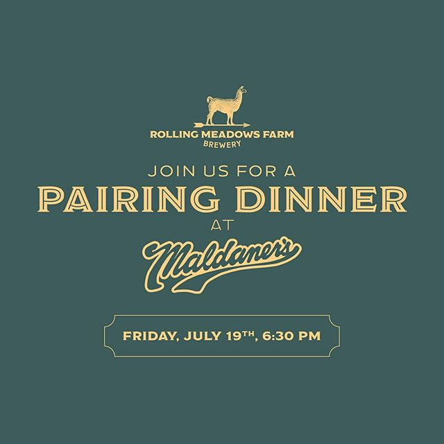 Mark your calendars for our Pairing Dinner at Maldaner's Restaurant & Catering - Friday, July 19th at 6:30pm!⠀⠀ .⠀⠀ .⠀⠀ .⠀⠀ .⠀⠀ .⠀⠀ #rmfb #maldaners #farmtotable #farmtoglass #downtownspringfield #springfieldpix #cudntwn