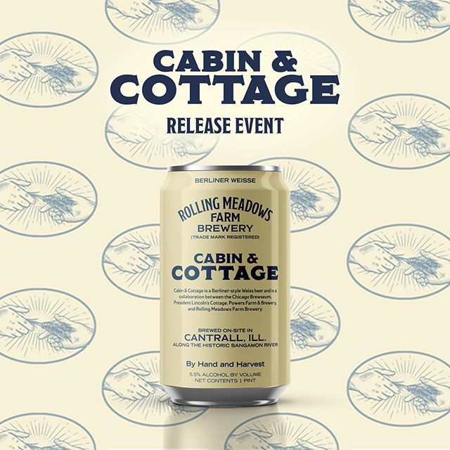 Cabin & Cottage Beer Release:  A Beer Inspired by Abraham Lincoln 🎩🍺 Cabin & Cottage is a Berliner-style Weiss beer and is a collaboration between @chibrewseum, @lincolnscottage , @powersfarmbrew and @rmbrewery.  This event will feature Liz Gariby, from the Chicago Brewseum who will introduce the collaboration, the beer itself, and the connection to Abraham Lincoln. Ian Hunt of the Abraham Lincoln Presidential Library and Museum will speak about the time period in Lincoln's life related to the Cabin and Cottage at one o'clock and again at three.  Tom Irwin will be performing Tales of the Sangamon from 2-4:30.  The release party also includes a tour of the brewery and farm, music, a food truck, and - most importantly, BEER! {Event link in profile}