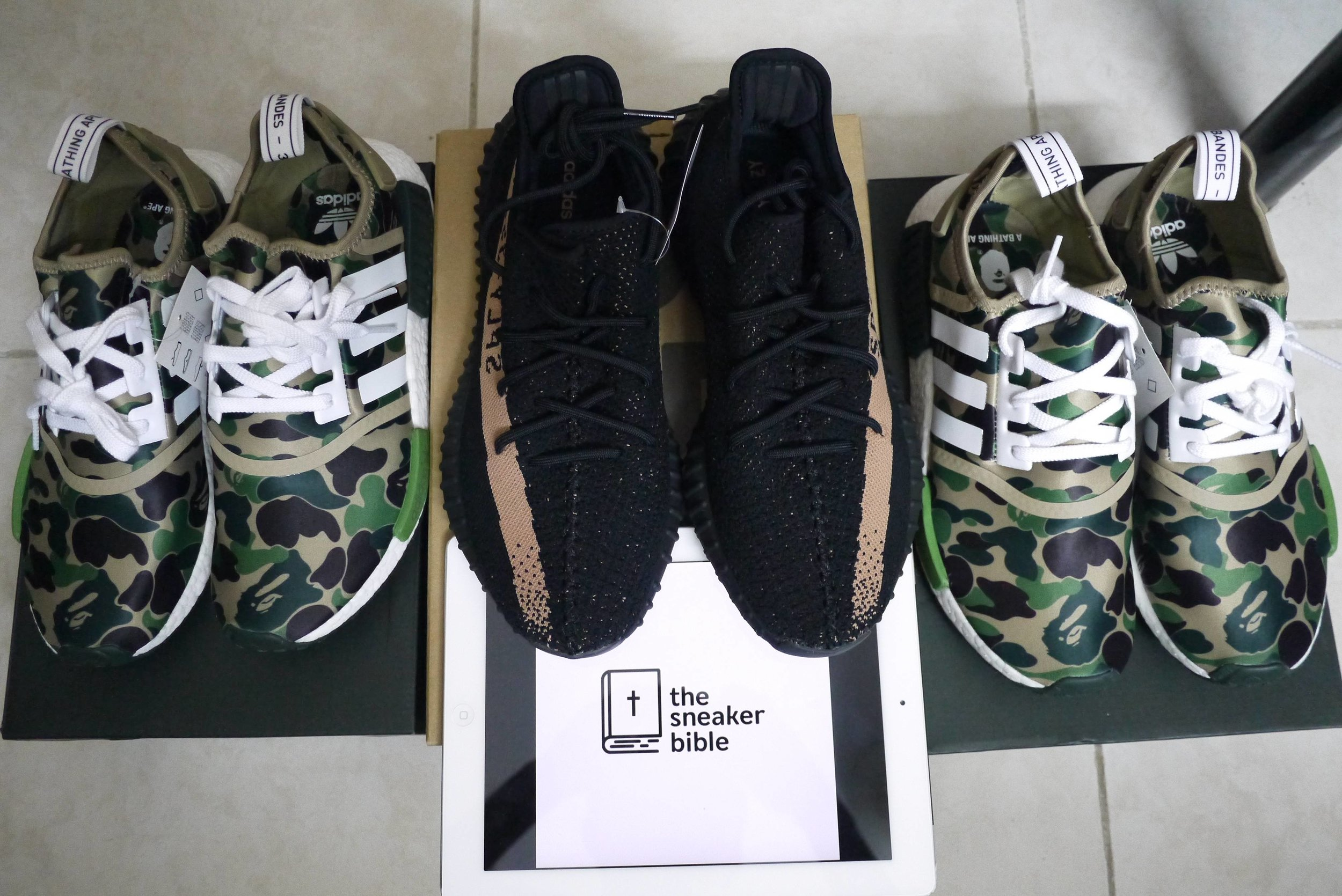 TheSneakerBible Success - Yeezy and Bape