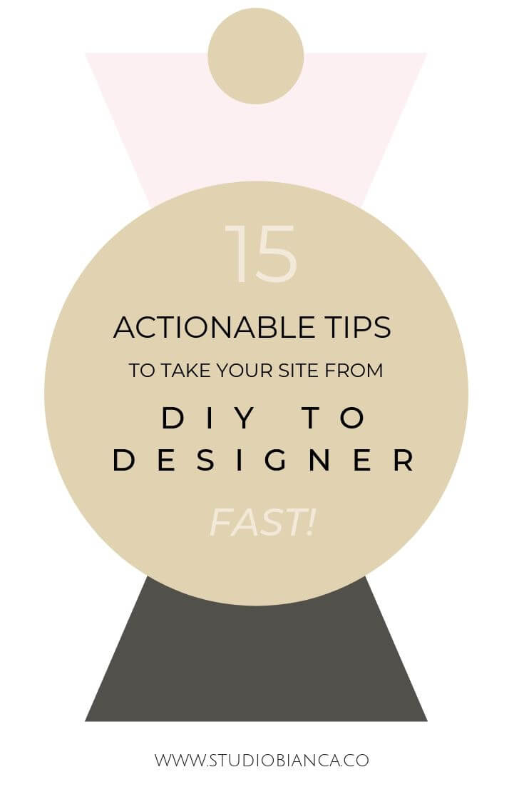 Creative entrepreneurs and small business owners, did you DIY your site and want a designer look? Check out these tips to make your website look like a professional website design, fast!